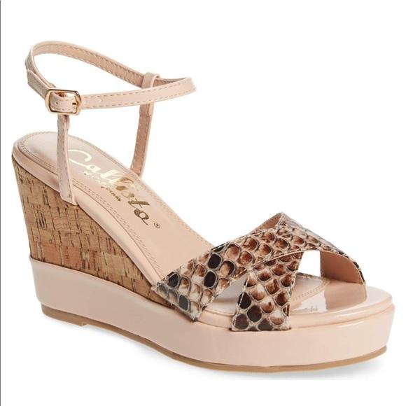 2712585d3ace Callisto 9.5 wedge Lottie sandal pink python blush